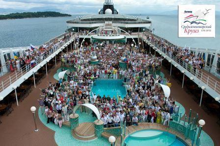 Корпоративная поездка в отпуск с семьями в круиз по Средиземке. Май 2012г.